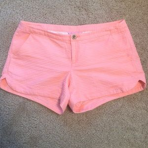 "Lilly Pulitzer Adie Shorts in ""Cantaloupe"" color"